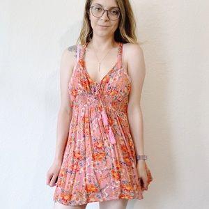Free People Floral Mini Dress